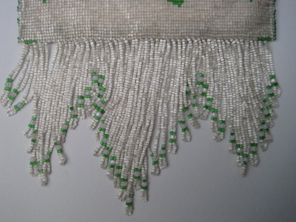 1920's Handbag Beaded with Fringe Vintage - regenerationvintageclothing
