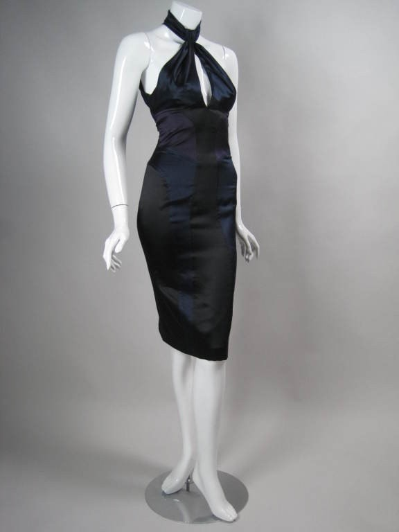 Versace Cocktail Dress Color-Blocked Vintage - regenerationvintageclothing