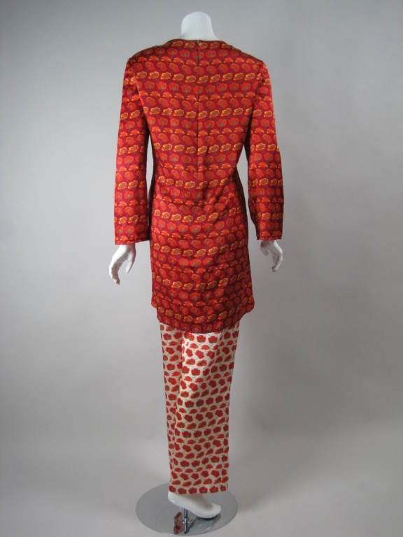 Bill Blass Ensemble 1980's Brightly Colored Silk Charmeuse Vintage - regenerationvintageclothing