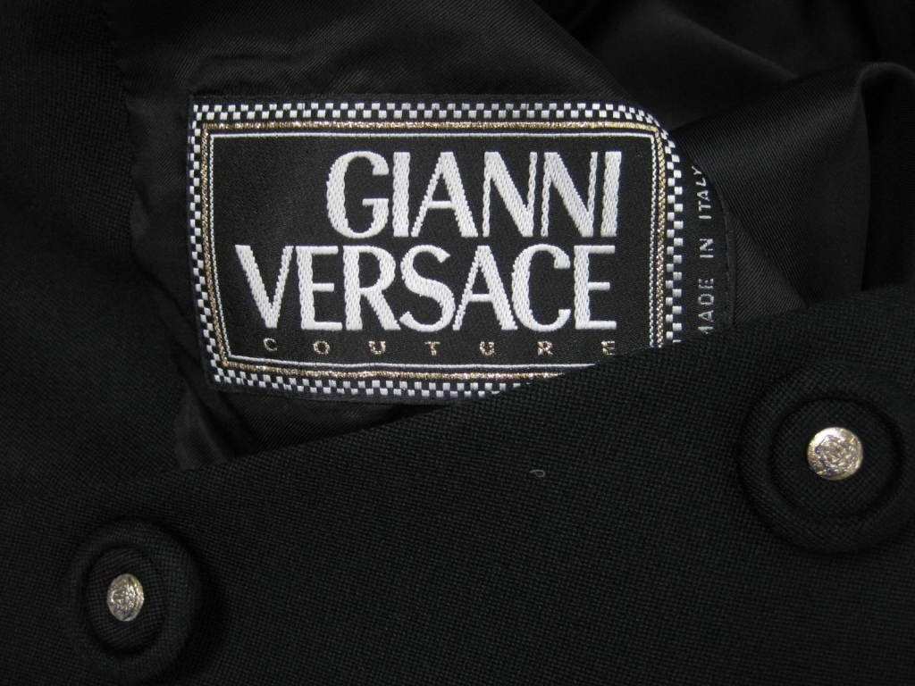 Vintage 1990's Versace Couture Double-Breasted Short Jacket