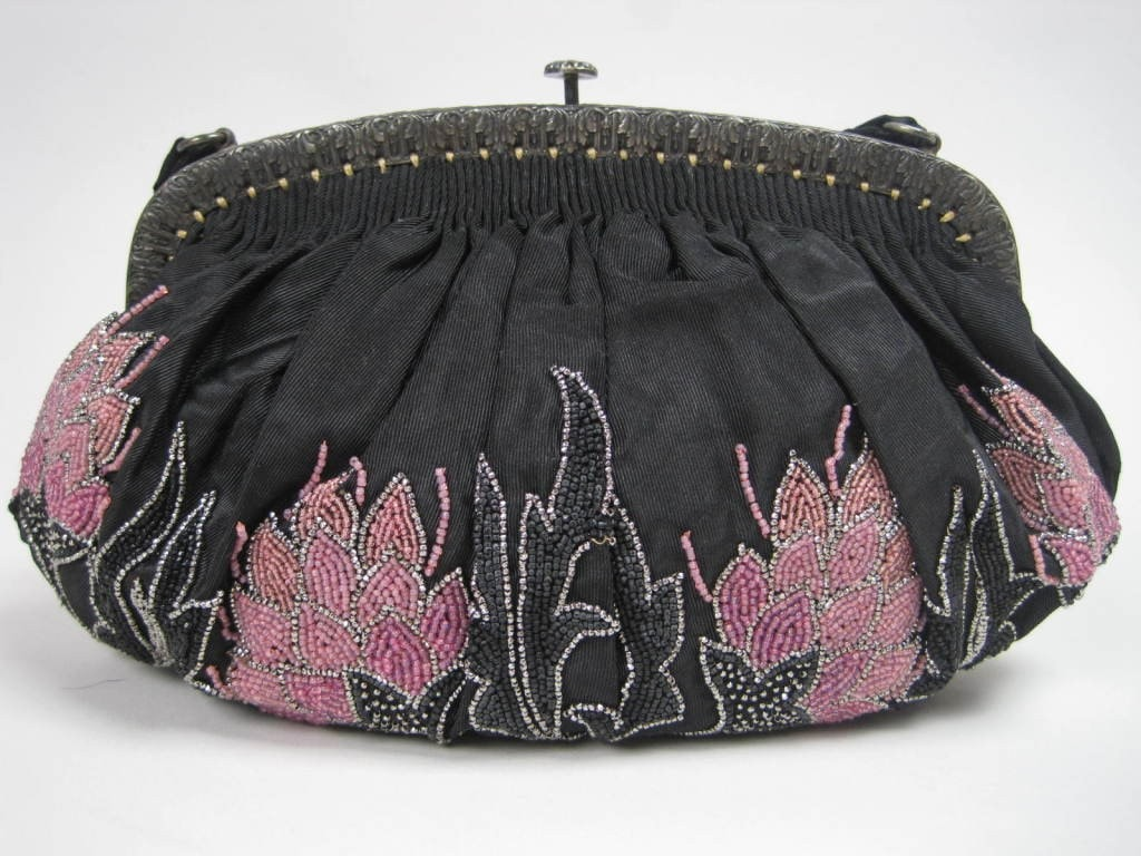 1920's Handbag French Beaded Vintage - regenerationvintageclothing