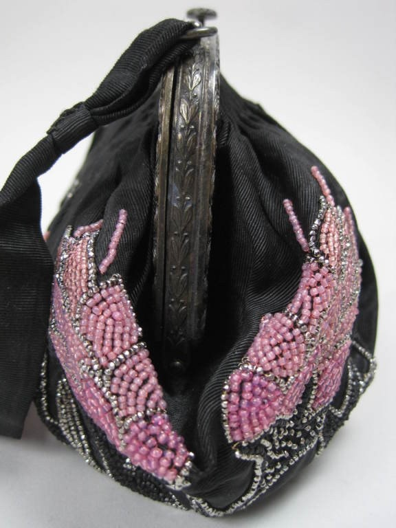 Vintage 1920's French Beaded Handbag