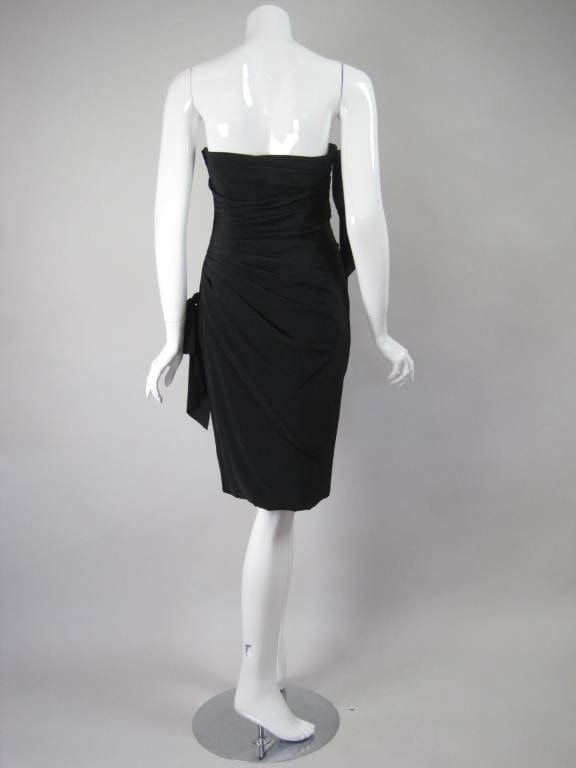 Vintage Dresses - Vintage 1980's Ungaro Strapless Silk Dupioni Cocktail Dress