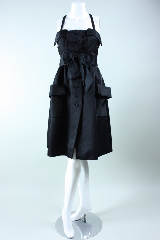 Vintage 1970's Geoffrey Beene Little Black Dress