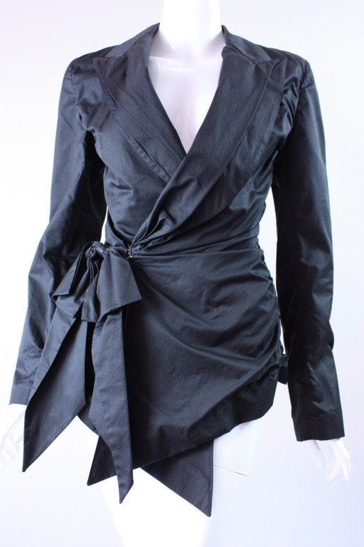 Jean-Paul Gaultier Blazer 1990's Cotton Sateen Vintage - regenerationvintageclothing