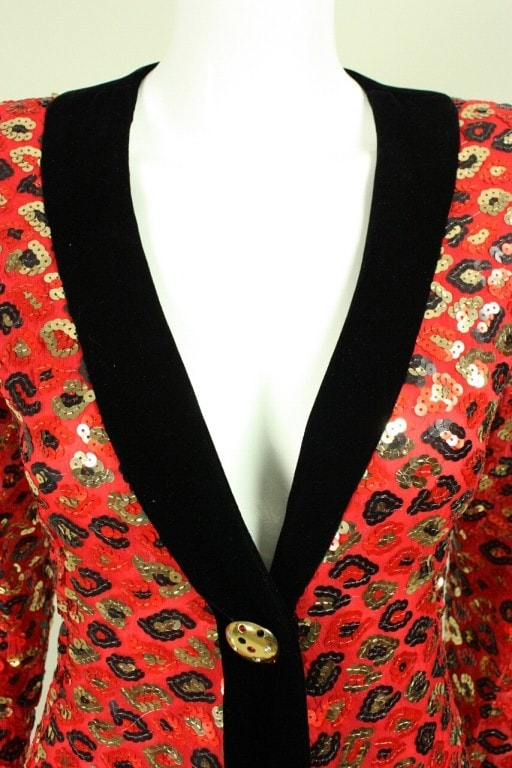 Givenchy Cocktail Dress 1980's Sequined Vintage - regenerationvintageclothing