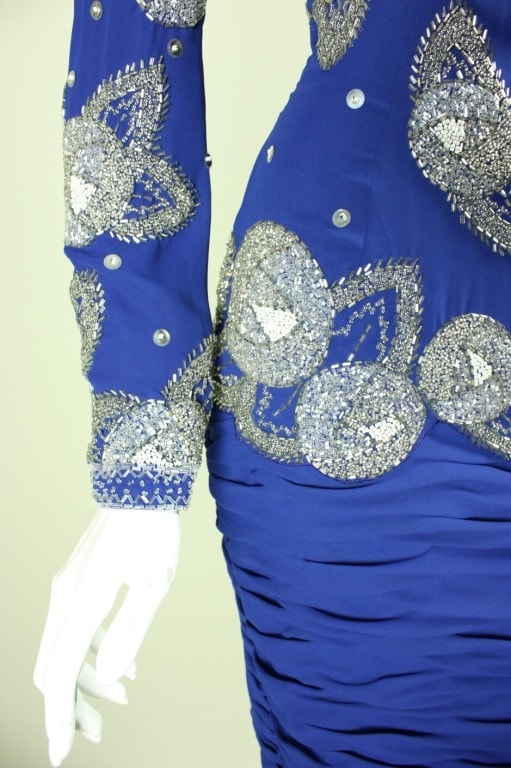 Fabrice Dress 1980's Beaded Vintage - regenerationvintageclothing