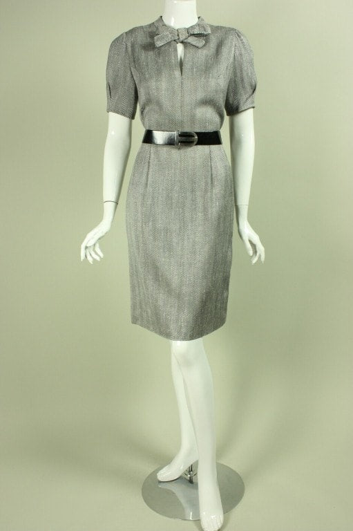 Hardy Amies Dress & Jacket Ensemble 1980's Raw Silk Dress & Jacket vtg - regenerationvintageclothing
