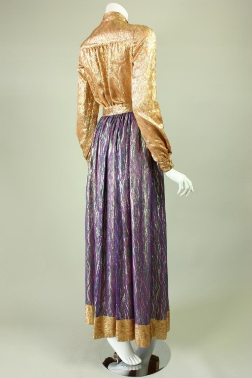 Vintage 1970's Adolfo Metallic Ensemble