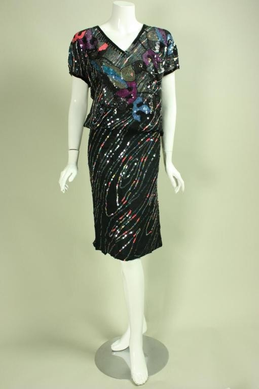 Vintage 1980's Arturo Herrera Sequined Ensemble