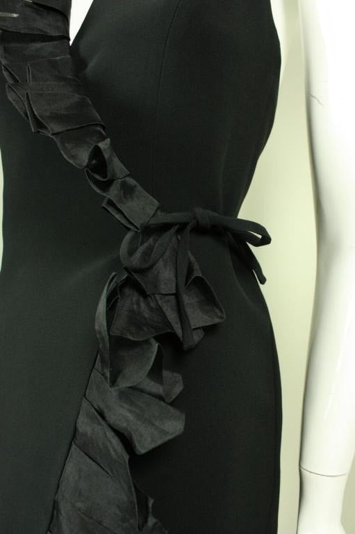 Moschino Couture Wrap Dress 1990's Ruffled Vintage - regenerationvintageclothing