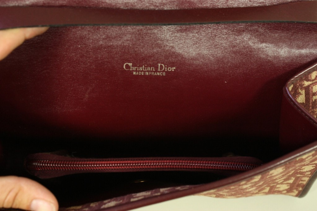 Vintage 1970's Christian Dior Monogram Handbag & Change Purse