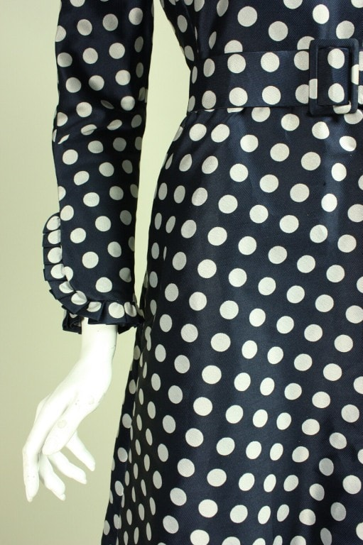 Geoffrey Beene Cocktail Dress 1960's Polka-Dotted Vintage - regenerationvintageclothing