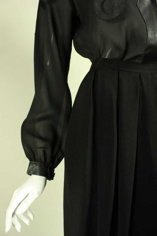 Giorgio Sant'Angelo Ensemble 1970's Black Vintage - regenerationvintageclothing