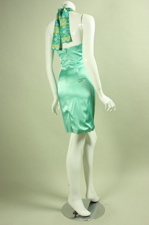 Stephen Sprouse Dress Mint Green Vintage - regenerationvintageclothing