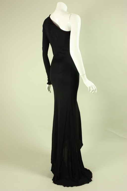 Vintage 1970's Stephen Burrows One-Shouldered Gown