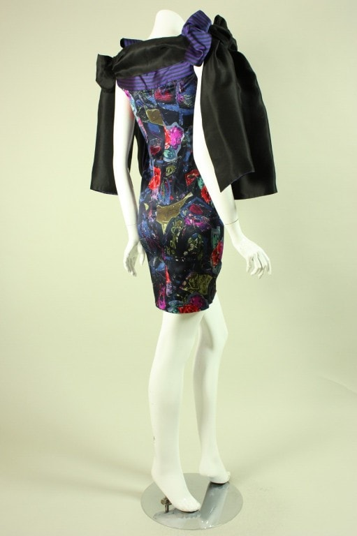 Christian Lacroix Mini Dress 1990's Printed Vintage - regenerationvintageclothing