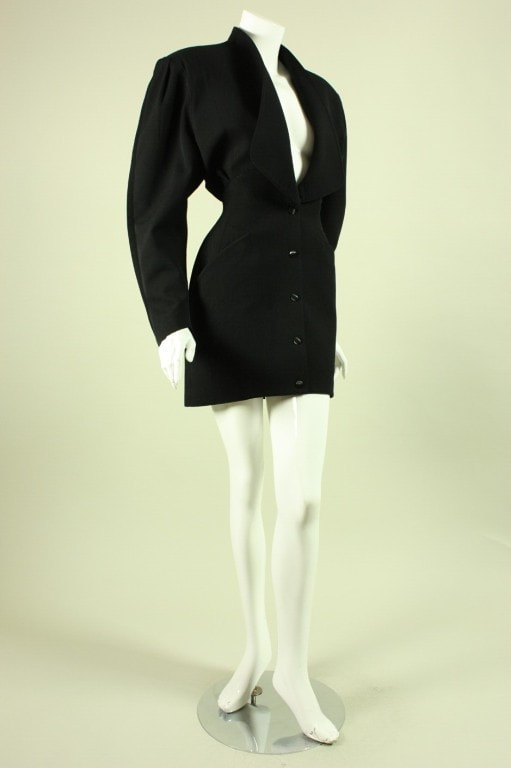 Thierry Mugler Cocktail Dress 1990's Black Vintage - regenerationvintageclothing