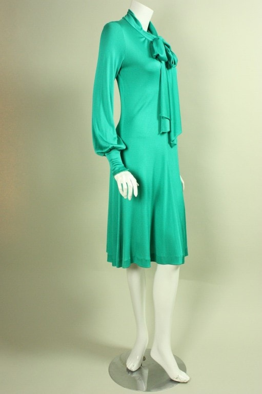 Giorgio Sant Angelo Dress 1970's Jersey Vintage - regenerationvintageclothing