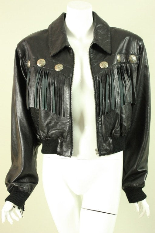 Vintage 1980's North Beach Fringed Leather Jacket