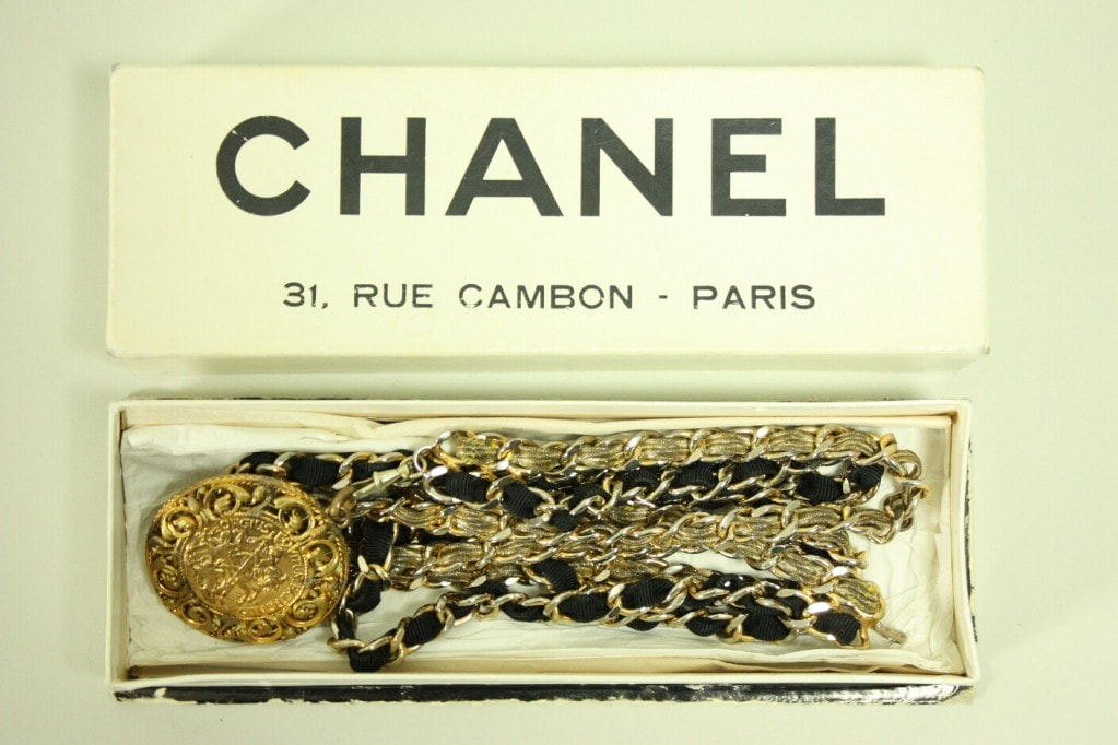 Vintage 1960's Chanel Chain Belt with Original Box