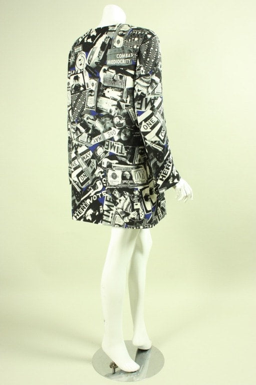 Ungaro Jacket 1990's with Pop Art Print Vintage - regenerationvintageclothing