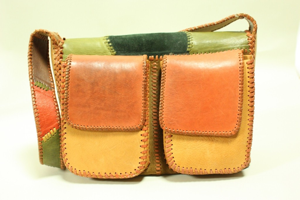 Vintage 1970's Char Patchwork Leather Handbag