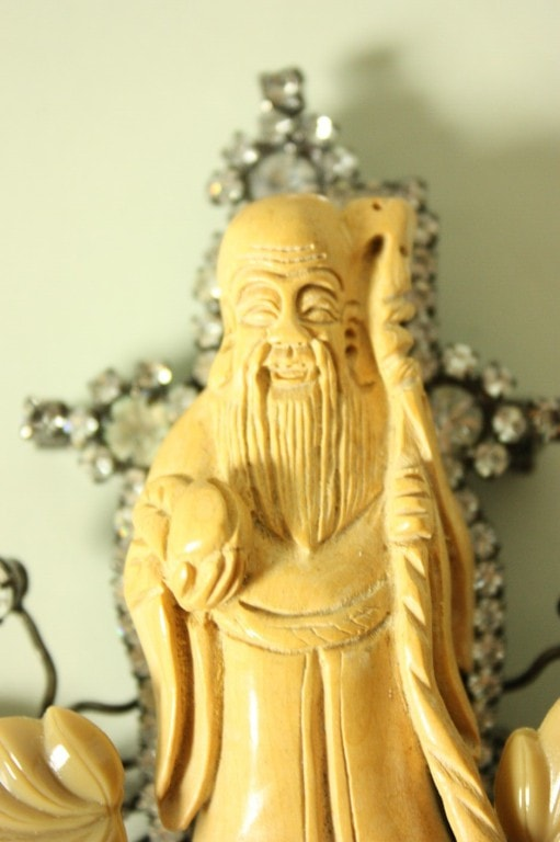 Lawrence Vrba Brooch 1980's Chinese Monk Vintage - regenerationvintageclothing