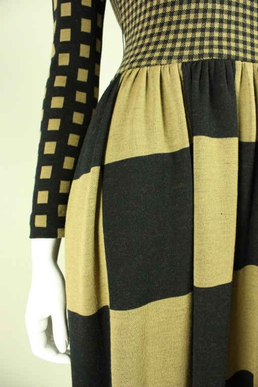 Rudi Gernreich Maxi Dress 1970's Op-Art Vintage - regenerationvintageclothing