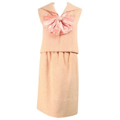 Vintage Clothing: 1960's Norman Norell Pink Boucle Ensemble