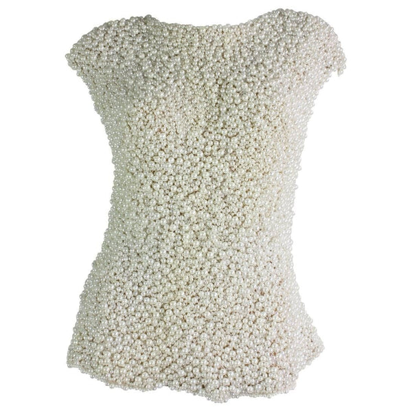 Vintage Clothing: Oscar De La Renta Pearl Covered Shell