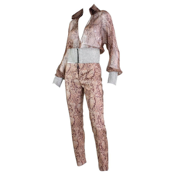 Dolce & Gabana Ensemble Silk and Rhinestone Vintage - regenerationvintageclothing