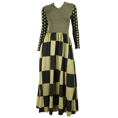 Vintage Dresses: 1970's Rudi Gernreich Op-Art Maxi Dress