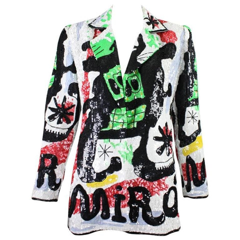 Jeanette for St. Martin Blazer Fully Sequined Joan Miró Vintage - regenerationvintageclothing