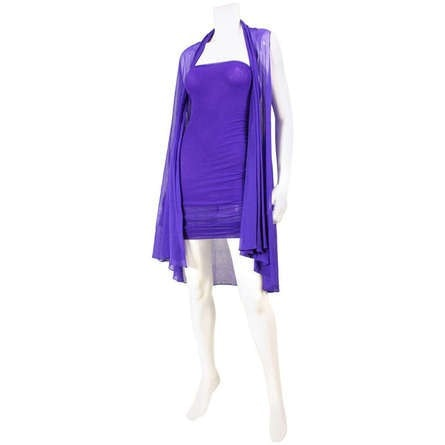 Giorgio Di Sant'Angelo 1980's Mesh Strapless Dress & Jacket Vintage - regenerationvintageclothing