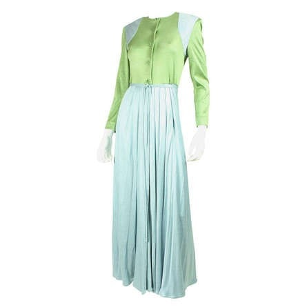 Geoffrey Beene Dress 1980's Silk Jersey Vintage - regenerationvintageclothing
