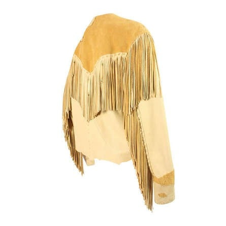 1990's Jacket J. Wahl Fringed Deerskin & Leather Vintage - regenerationvintageclothing