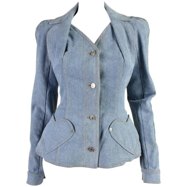 Vintage Clothing: Christian Dior Denim Jacket with Heart Pockets