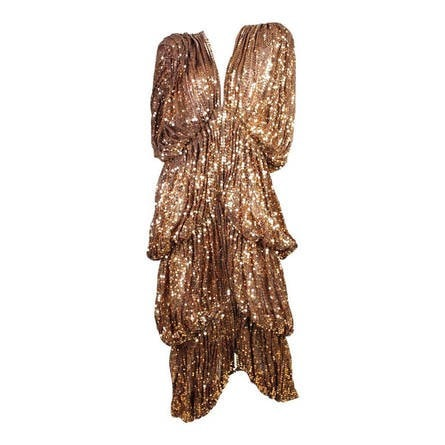 Vintage Clothing: 1970's Norma Kamali OMO Sequined Bubble Layered Coat