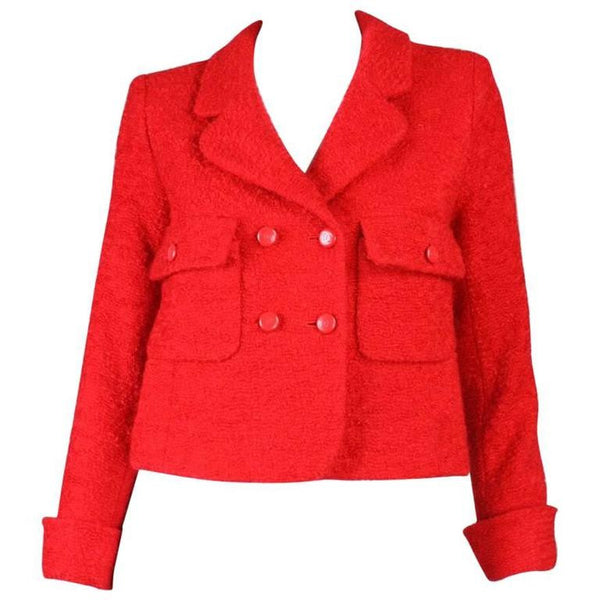 Vintage Clothing: 1990's Chanel Red Bouclé Jacket