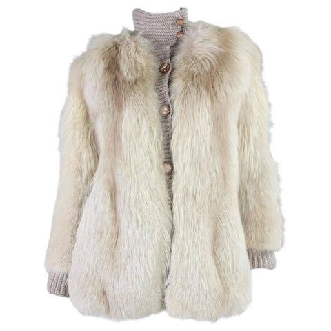 Vintage Clothing: 1980's Edwards-Lowell Fox Fur Sweater Jacket