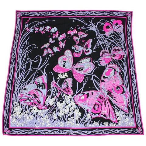 Vintage Clothing: 1970's Emilio Pucci Silk Scarf with Butterfly Print