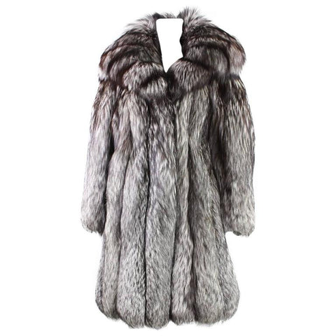 Vintage Silver Fox Fur Coat Vintage - regenerationvintageclothing