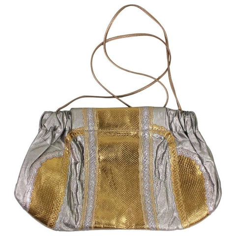 Vintage Clothing: 1980's Carlos Falchi Metallic Handbag