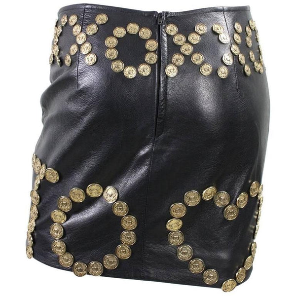 Vintage Clothing: Moschino Live to Love Leather Skirt