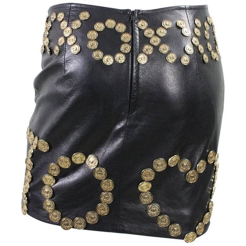 Moschino Skirt Live to Love Leather Vintage - regenerationvintageclothing