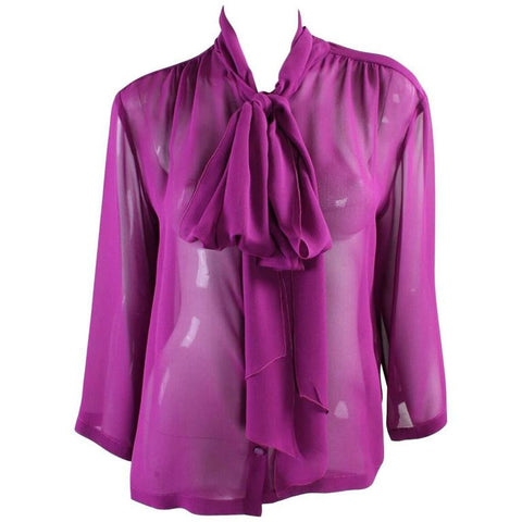 Vintage Clothing: 1990's Chanel Silk Chiffon Blouse
