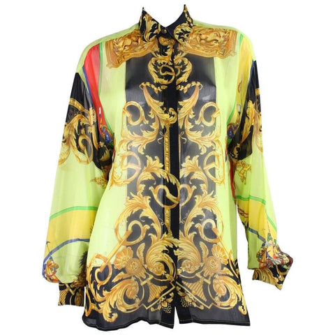 Versace Blouse 1990's for Versus Printed Vintage - regenerationvintageclothing