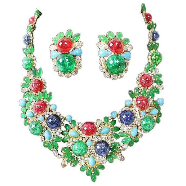 1960's Christian Dior Necklace & Earrings