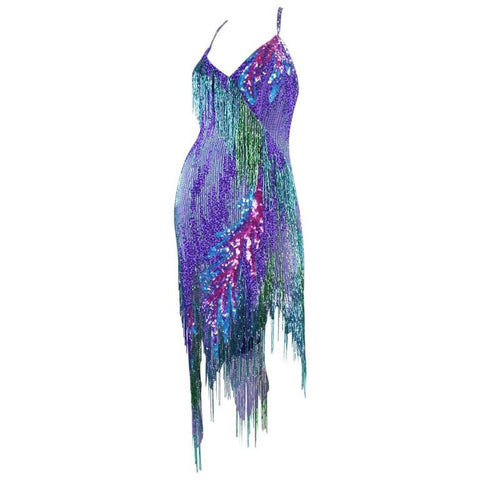 Bob Mackie Cocktail Dress 1980's Beaded Vintage - regenerationvintageclothing